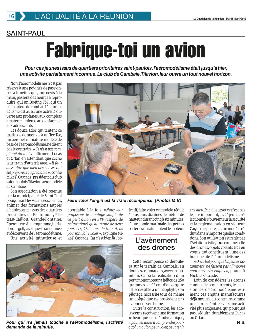 article fabrique toi un avion